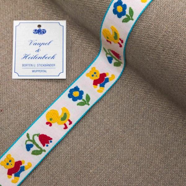 """Kinderborte """"Bärchen"""" 24 mm, Farbe 106, weiß - gelb"""