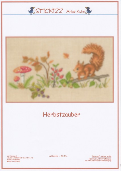"Stickizz Kreuzstich No. AK514 ""Herbstzauber"""
