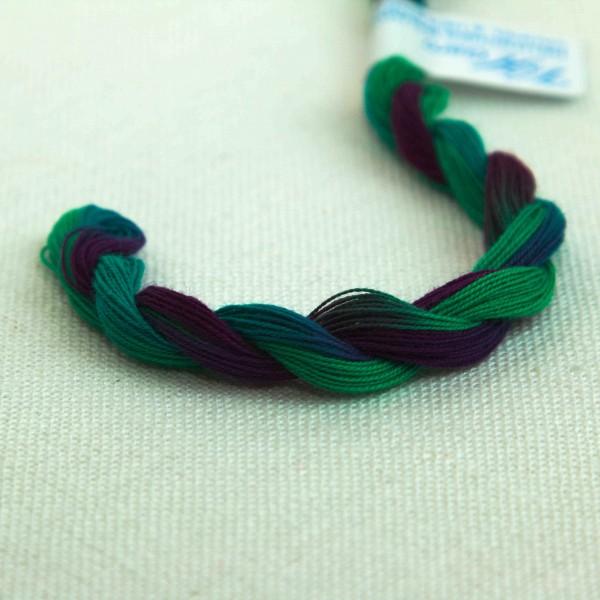 Verlaufsgarn 100% BW, Farbe V234, türkis - grün - lila