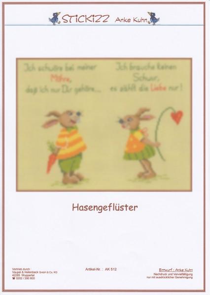 "Stickizz Kreuzstich No. AK512 ""Hasengeflüster"""