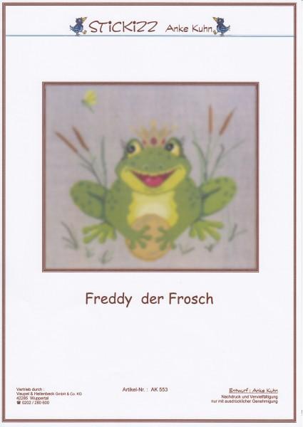 """Stickizz Kreuzstich No. AK553 """"Freddy der Frosch"""""""