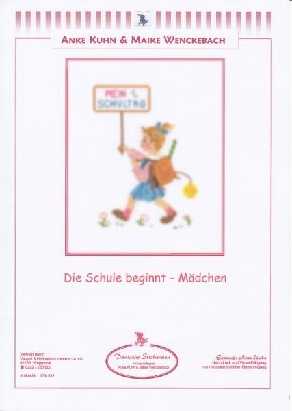 """Stickizz Kreuzstich No. AK532 """"Die Schule beginnt - Mädchen"""""""