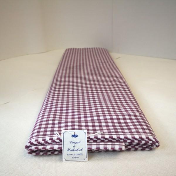 Baumwolltuch kariert 100% BW, 162 cm Breite, brombeer - weiß