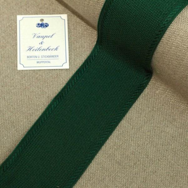 Aida-Stickband 100% BW, 50 mm, Farbe 23, grün - grün