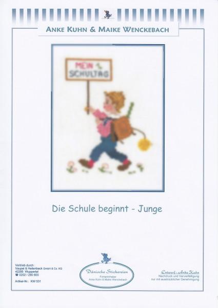 """Stickizz Kreuzstich No. AK531 """"Die Schule beginnt - Junge"""""""