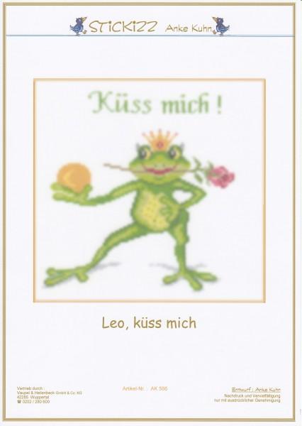 "Stickizz Kreuzstich No. AK566 ""Leo, küss mich"""