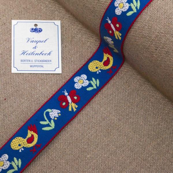 """Kinderborte """"Piepmatz"""" 24 mm, Farbe 065, blau - gelb"""