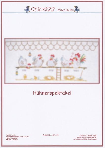 """Stickizz Kreuzstich No. AK515 """"Hühnerspektakel"""""""