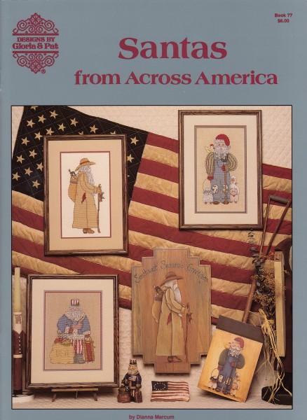 "Vorlagenbuch Gloria & Pat ""Santas from across America"""