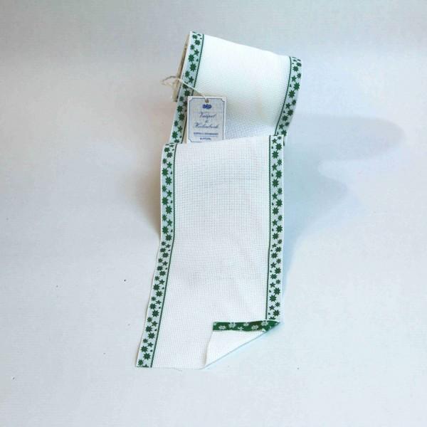 Aida-Stickband 100% BW, 120 mm, Farbe 23, weiß - Sterne grün
