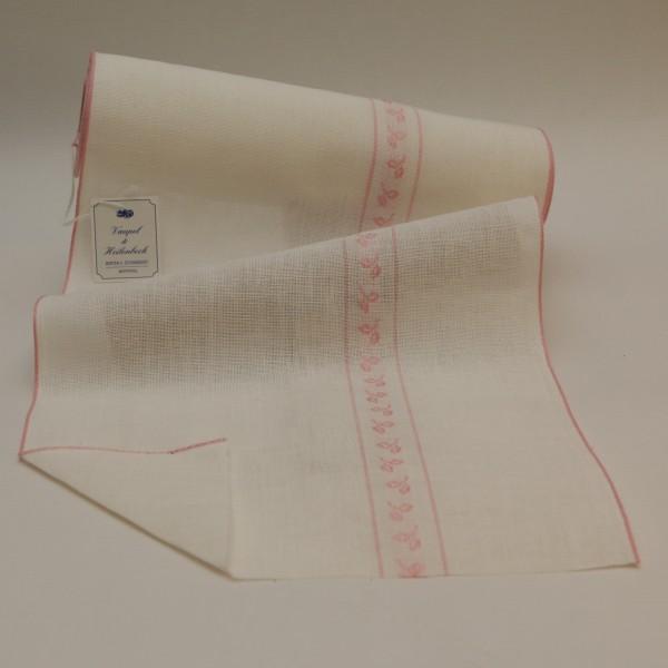 Leinenband 285 mm, 11-fädig, Motivstreifen Blatt, Farbe 211, gebleicht - rose