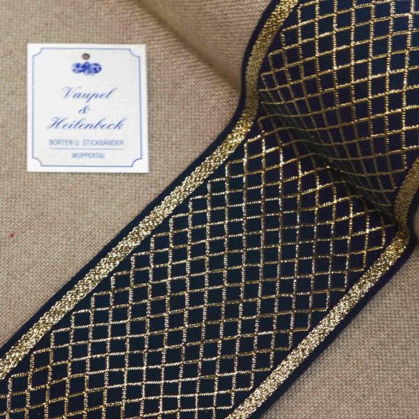 Schmuckborte 80 mm, Farbe 064, blau - gold