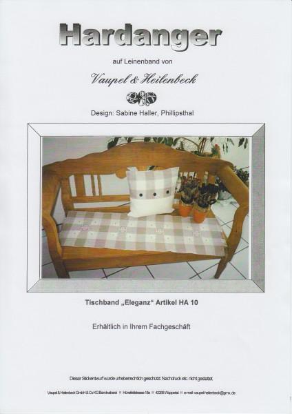 "Hardanger Stickanleitung ""Tischband Eleganz"""
