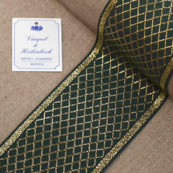 Schmuckborte 80 mm, Farbe 034, grün - gold