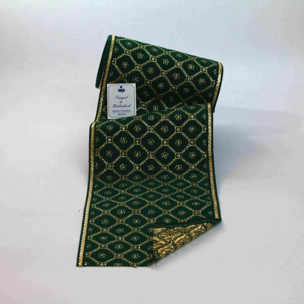 Schmuckborte (Tischband) 160 mm, Farbe 034, grün - gold