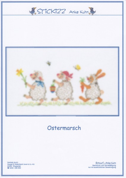 "Stickizz Kreuzstich No. AK569 ""Ostermarsch"""