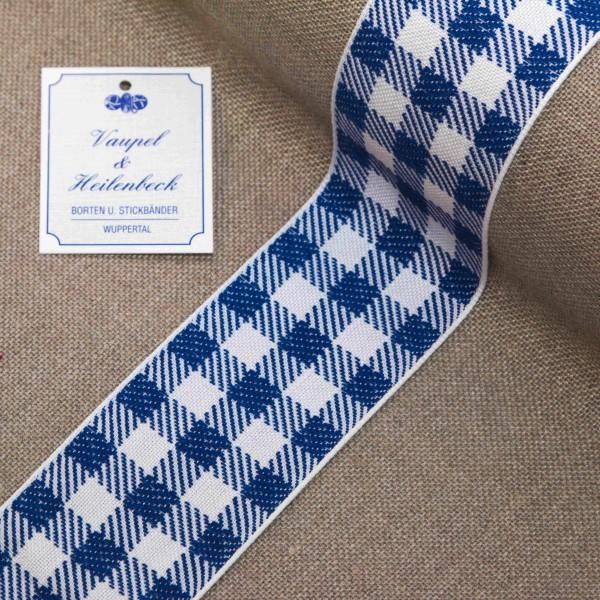 """Küchenborte """"Karomuster"""" 50 mm, Farbe 016, weiß - blau"""