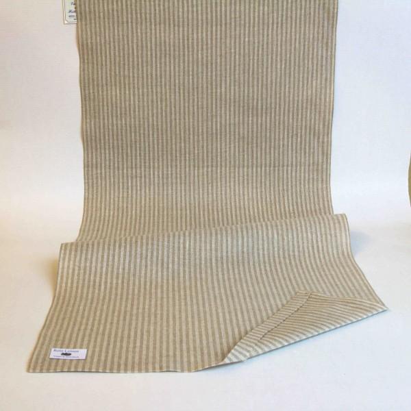 Leinenband 400 mm, 11-fädig, gestreift, Farbe 901900, natur - meliert
