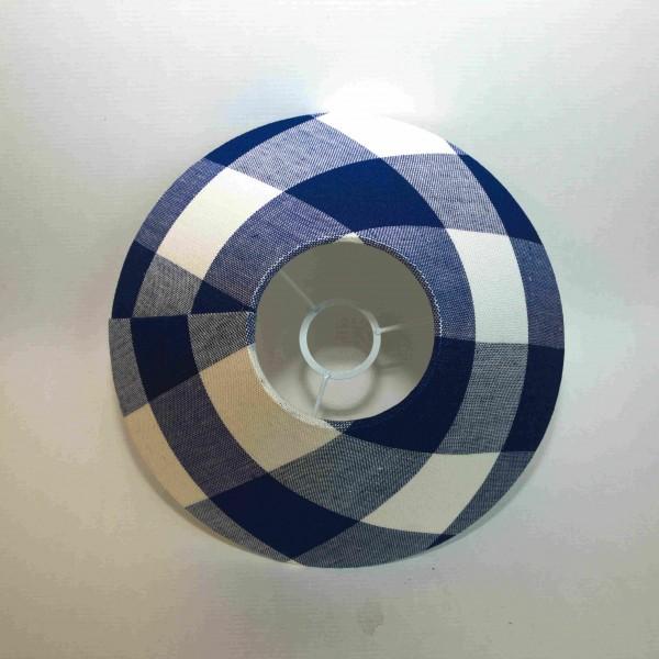 Lampenschirm Leinen, Farbe 900214, gebleicht - dunkelblau