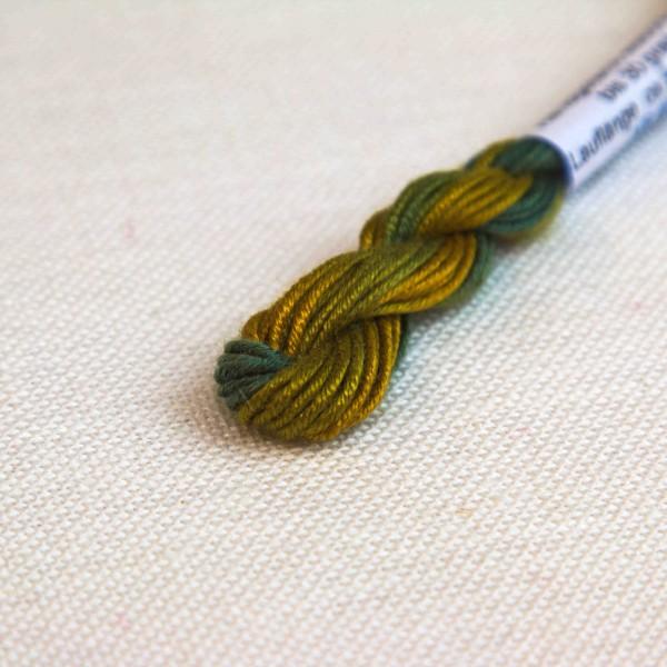 Verlaufsgarn 100% Seide, Farbe VS6402, grün - ocker