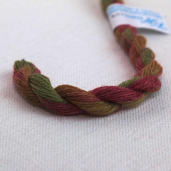 Verlaufsgarn Wolle / Acryl, Farbe VW9239, grün - hellbraun - rotbraun
