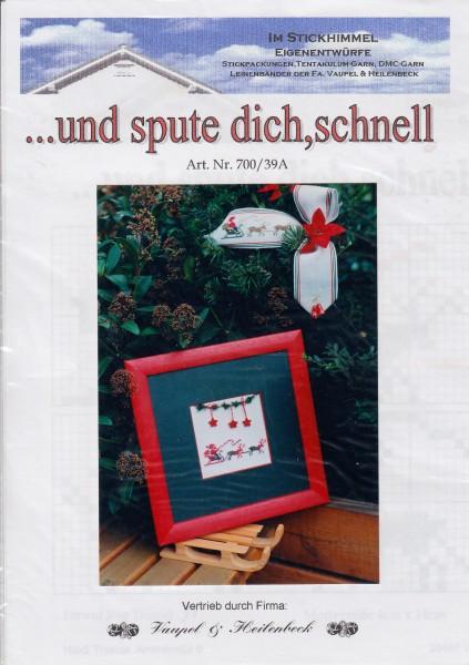 """Stickhimmel Anleitung No. 039A """"...und spute dich, schnell"""""""
