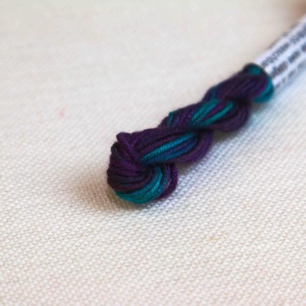 Verlaufsgarn 100% Seide, Farbe VS6193, violett - türkis